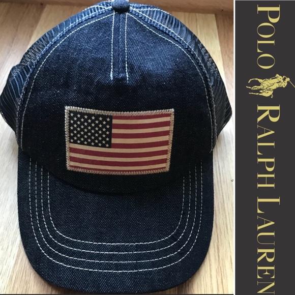 e8ef340cf5fdd Polo Ralph Lauren American Flag SnapBack Hat